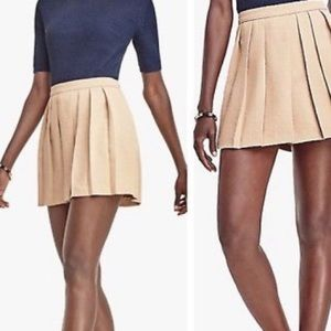 NWT Ann Taylor drapey skort pleated tan shorts
